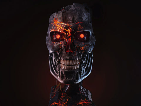 PRE-ORDER: PureArts Terminator 2 T-800 Battle Damaged Limited Edition Art Mask