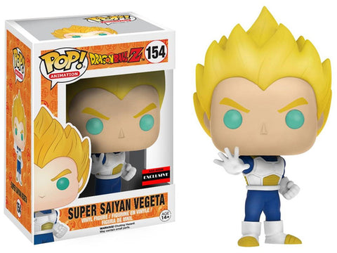 Funko Pop! Animation: Dragon Ball Z Super Saiyan Vegeta #154 AAA Anime Exclusive