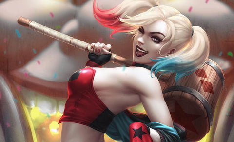 PRE-ORDER: Sideshow Collectibles Harley Quinn: Hell on Wheels! Art Print