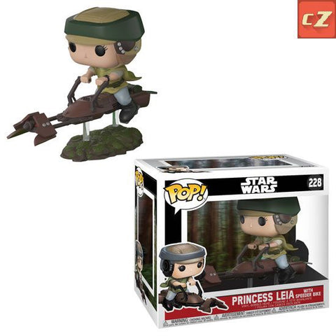 Funko Pop! Deluxe: Star Wars Princess Leia on Speeder Bike #228 *New In Box* - collectorzown