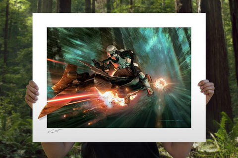 PRE-ORDER: Sideshow Collectibles Star Wars Endor Chase Art Print