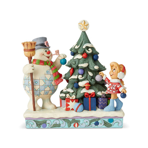 PRE-ORDER: Enesco Frosty And Karen Decorating Tree Statue