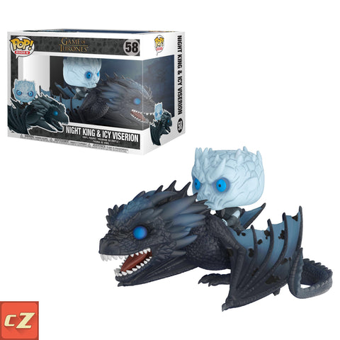 Funko Pop! Rides:Game of Thrones Night King & Icy Viserion #58 *New In Box* - CollectorZown