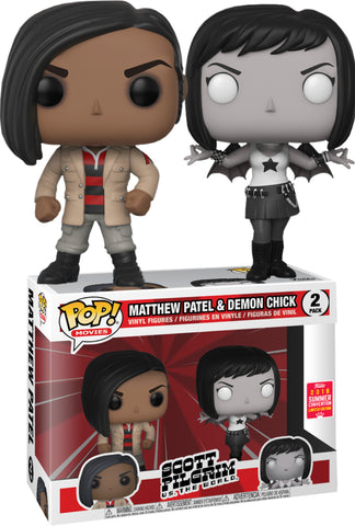 Funko Pop! Movies: Scott Pilgrim Matthew Patel & Demon Chick 2-Pack Summer Convention - CollectorZown