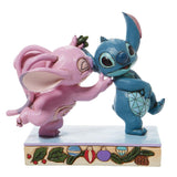 PRE-ORDER: Enesco Disney Traditions Angel and Stitch Mistletoe Statue