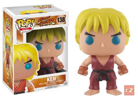 Funko Pop! Games: Street Fighter Ken #138 *New In Box* - collectorzown