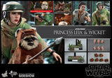 Hot Toys Princess Leia & Wicket Sixth Scale Figure Set