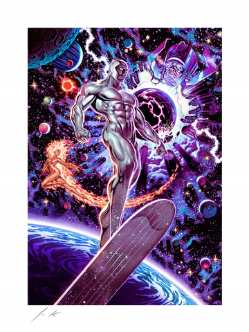 PRE-ORDER: Sideshow Collectibles Heralds of Galactus Silver Surfer Art Print
