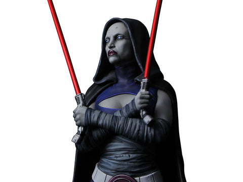 PRE-ORDER: Diamond Select Star Wars Clone Wars Asajj Ventress 1:6 Scale Bust