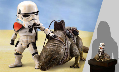 PRE-ORDER: Beast Kingdom Star Wars Dewback and Sandtrooper Action Figure