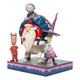 Enesco Disney Traditions Lock, Shock & Barrel w/Santa Statue