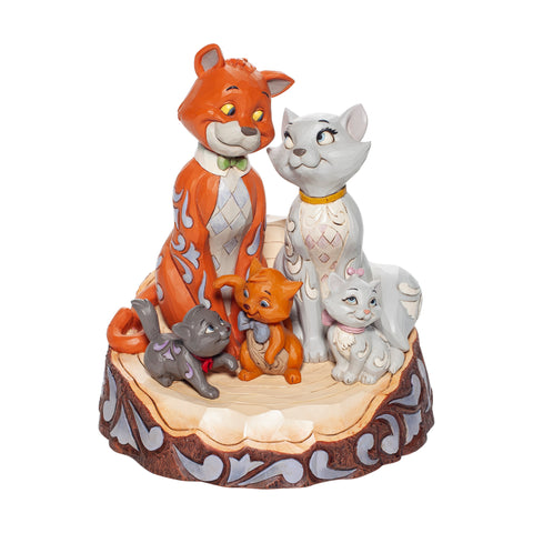 PRE-ORDER: Enesco Disney Traditions Aristocats Carved by Heart Statue