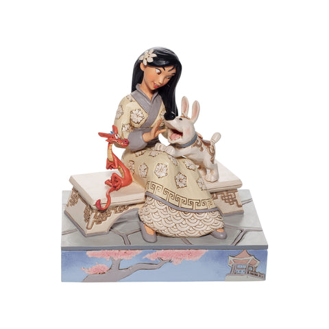 Enesco Disney Traditions White Woodland Mulan Statue