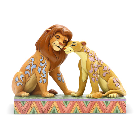 Enesco Disney Traditions Simba and Nala Snuggling Statue