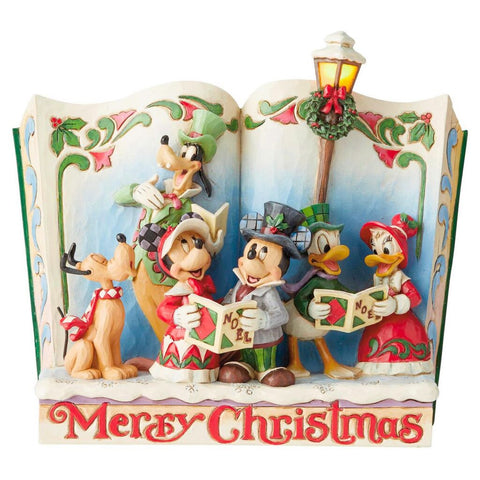 Enesco Disney Traditions Disney Gang Storybook Christmas Carol Statue