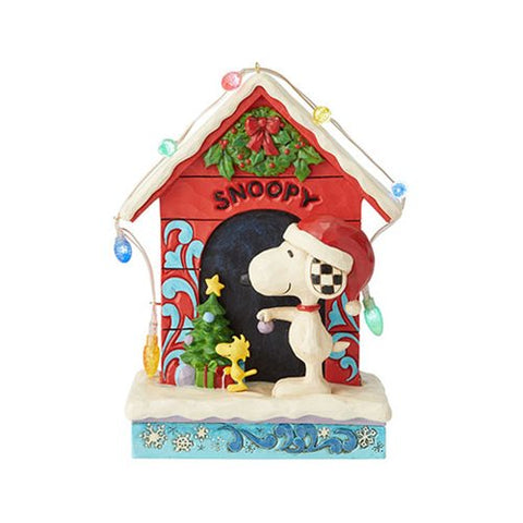 Enesco: Peanuts Snoopy by Dog House Merry and Bright by Jim Shore