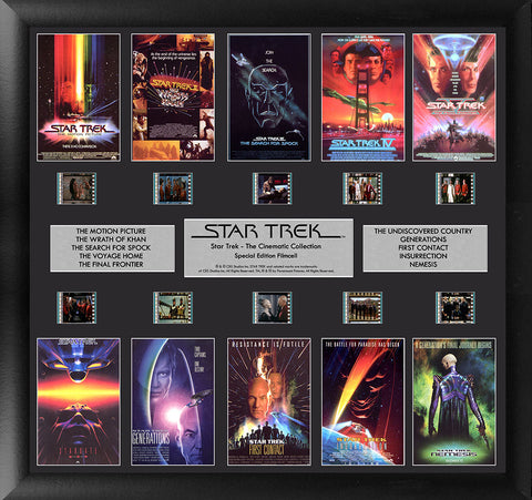 PRE-ORDER:  Filmcells Star Trek The Cinematic Collection Montage