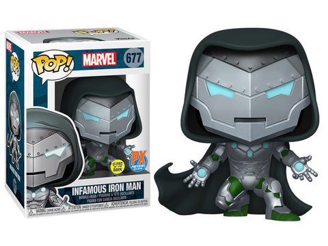 PRE-ORDER: Funko Pop! Marvel: Infamous Iron Man #677 GITD PX Previews Exclusive