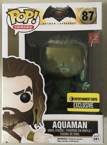 Funko Pop! Heroes: Batman V Superman Aquaman (Patina) #87 Entertainment Earth Exclusive - CollectorZown