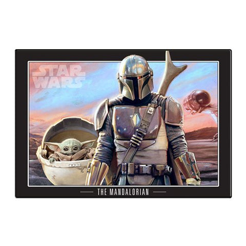Silver Buffalo Star Wars: The Mandalorian and The Child Wood Wall Art