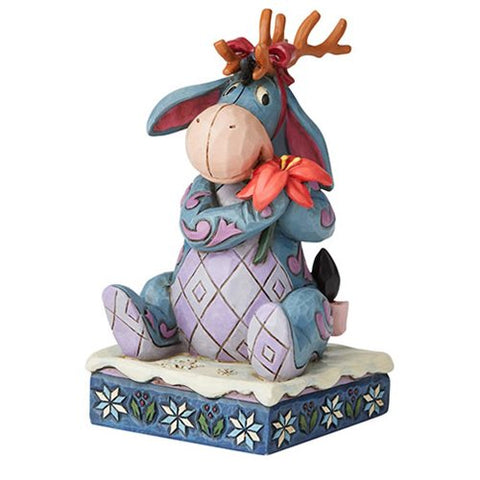 Enesco Disney Traditions Winnie the Pooh Eeyore Christmas Personality Winter Wonders by Jim Shore Statue