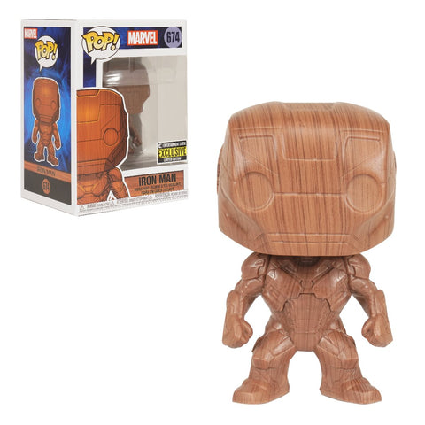 Funko Pop! Marvel Iron Man Wood Deco #674Entertainment Earth Exclusive