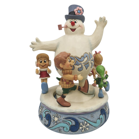 PRE-ORDER: Enesco Frosty with Parading Children Statue