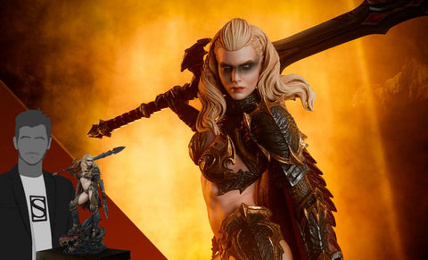 PRE-ORDER: Sideshow Colllectibles Dragon Slayer: Warrior Forged in Flame Statue