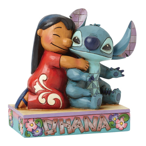 Enesco Disney Traditions Lilo Hugging Stitch Statue