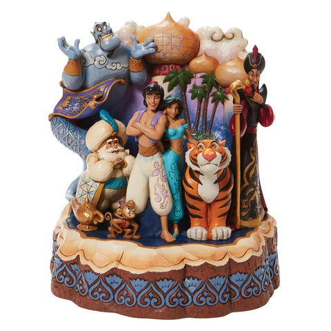 PRE-ORDER: Enesco Disney Traditions Carved by Heart Aladdin Statue