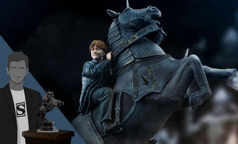 PRE-ORDER: Iron Studios Harry Potter and the Sorcerer's Stone Ron Weasley at the Wizard Chess Deluxe 1:10 Scale Statue