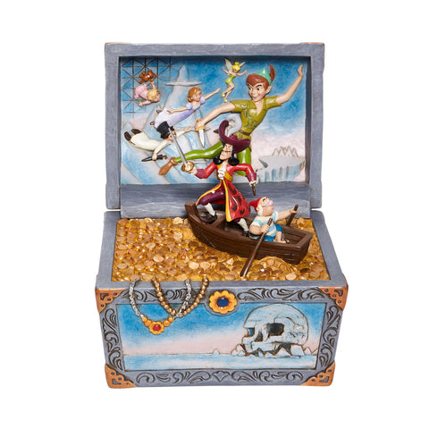 PRE-ORDER: Enesco Disney Traditions Peter Pan Treasure Chest Scene Statue