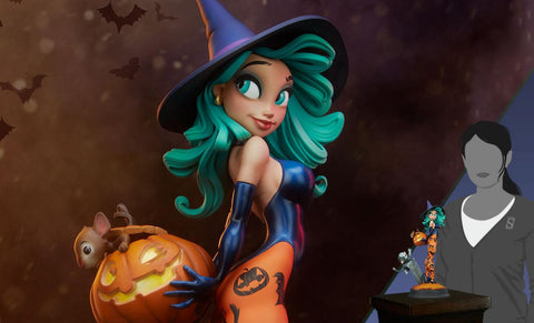 PRE-ORDER: Sideshow Collectibles Pumpkin Witch Statue