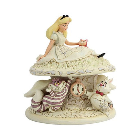 Enesco: Disney Traditions Alice in Wonderland White Woodland Whimsy and Wonder by Jim Shore