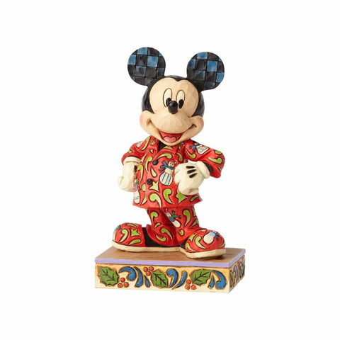 PRE-ORDER: Enesco Disney Traditions Mickey in Christmas Pajamas Statue