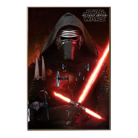 Silver Buffalo Star Wars: Episode VII The Force Awakens Kylo Ren Space Wood Wall Art