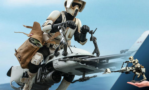 PRE-ORDER: Hot Toys Scout Trooper and Speeder Bike Sixth Scale Figure set