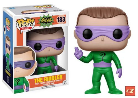 Funko Pop! Heroes: Batman Classic TV The Riddler #183 *New In Box* - CollectorZown