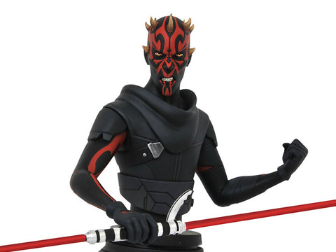 PRE-ORDER: Diamond Select Star Wars Rebels Darth Maul 1/7 Scale Limited Edition Bust