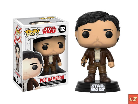 Funko Pop! Star Wars: The Last Jedi Poe Dameron #192 *New In Box* - CollectorZown