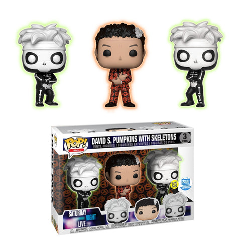 Funko Pop! Television: SNL David S. Pumpkins With Skelletons 3 Pack Funko Shop Exclusive