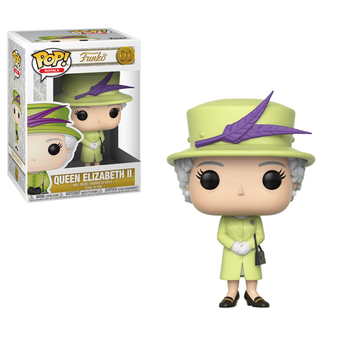 PRE-ORDER: Funko Pop! Royals: Queen Elizabeth II 01 (Lime Dress) - CollectorZown