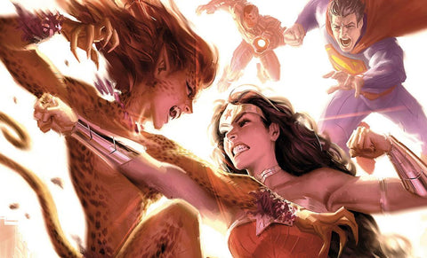 Sideshow Justice League: Wonder Woman vs Cheetah Art Print