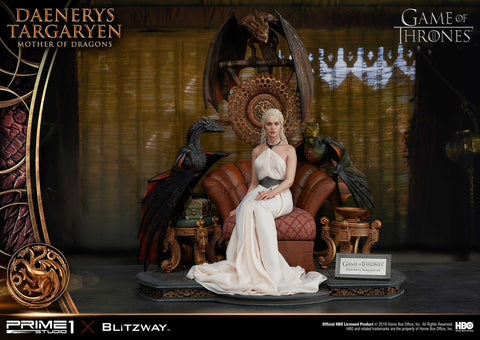 PRE-ORDER: Prime 1 Studio Ultimate Premium Masterline Game of Thrones Daenerys Targaryen, Mother of Dragons Statue
