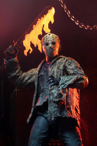 PRE-ORDER: NECA Freddy VS Jason: Ultimate Jason Voorhees 7' Scale Action Figure