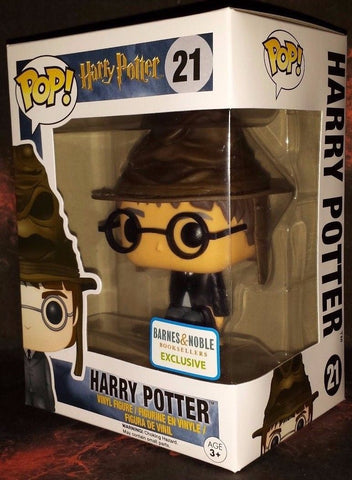Funko Pop! Harry Potter: Harry Potter With Sorting Hat #21 Barnes & Noble Exclusive