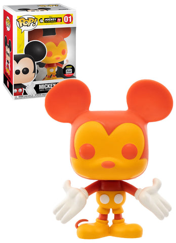 Funko Pop! Mickey Mouse: Orange & Yellow Mickey Mouse #01 Funko Shop Exclusive
