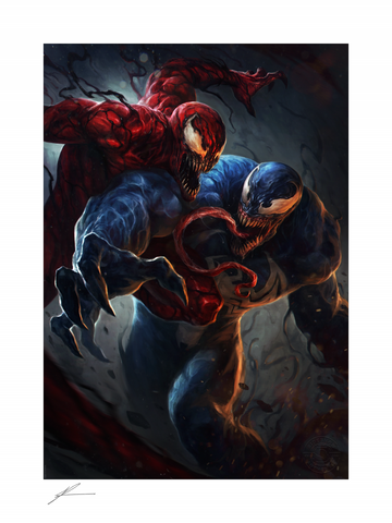 PRE-ORDER: Sideshow Collectibles Marvel Comics Venom vs Carnage Art Print