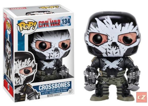 Funko Pop! Marvel: Captain America Civil War Crossbones #134 - Vaulted *New In Box* - CollectorZown