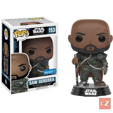 Funko Pop! Star Wars: Rogue One Saw Gererra #153 Walmart Exclusive *New In Box* - CollectorZown